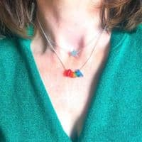 Rainbow Sea Glass Necklace| Lyn Longman
